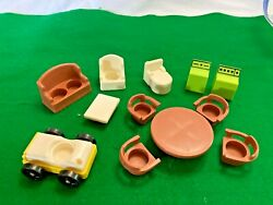 Fisher Price Vintage Little People Furniture and Car $22.50