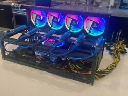 6 GPU RGB Mining Rig Professionally Built *No Cards Included Active $1500.00