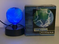 RARE LumiSource Blue Planet Electra Plasma Lamp Glass Art In Box Works Great $99.99
