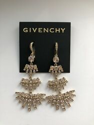 Givenchy Swarovski Crystal Rose Gold Chandelier Earrings New Never Worn $32.00