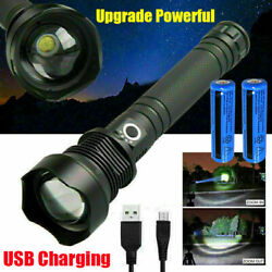 990000LM USB Rechargeable Flashlight Brightest LED Torch Waterproof Hiking Light $24.78