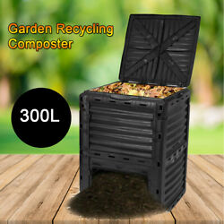 300L Garden Recycling Composter Outdoor Composting Bin Eco friendly PP $69.05