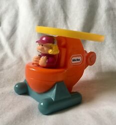 LITTLE TIKES HELICOPTER TOY WITH GIRL PILOT 2004 BURGER KING TODDLER KIDS MEAL $4.99
