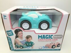 RC Kids Car Toy Toddlers Baby Electric Racing Play Time Cartoon Colorful Blue AA $29.99