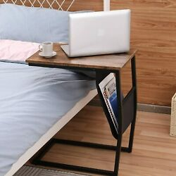C Shaped Industrial End Table Vintage Bedside Side Table with Sturdy Metal Frame $19.99