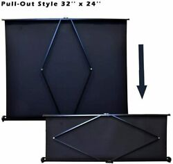 Pyle PRJTP46 40quot; Floor Table Top Manual Retractable Pull Out Projector Screen $38.99