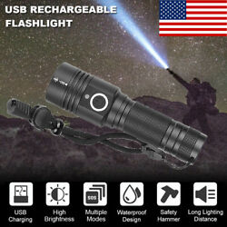 High Power 90000LM Flashlight On or off click Work Light Complete with strap BR $20.97