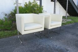 Mid Century Modern Pair of Milo Baughman Style Side Chairs 2309 $445.50