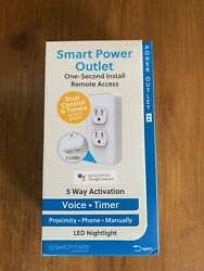 Simplysmarthome By Switchmate Dual Smart Power Outlet W 2 Usb Ports $15.00