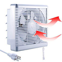 10 Inch Exhaust Shutter Fan Airflow Wall for Vents Attic 14quot;×14quot; Panel $69.99