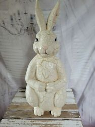 Shabby chic Easter Bunny large decor home kitchen $35.75