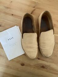 Feit Women's Hand Sewn Natural Leather Slipper Loafer Shoe Pale Pink 39 9