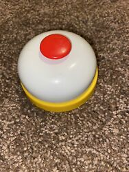 Hotel Front Desk Lobby Service Bell General Store Countertop White amp; Yellow Red $9.99