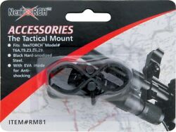 NexTorch Tactical Mount Black Hard Anodized Steel Construction Mounts 17mm 25mm $12.19