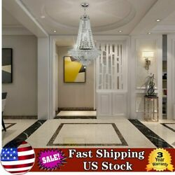 Crystal Chandelier French Empire Pendant Lamp Large Foyer Entryway Hanging Light $215.00