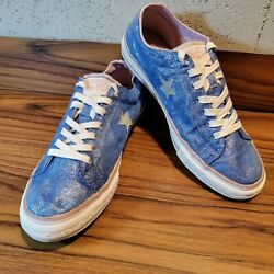 Converse One Star Womens Size 10 Blue Sparkley Sneaker $24.99