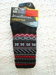 New Smartwool Lifestyle Womens Socks Medium Black Grey amp; Red Made in the USA $9.99