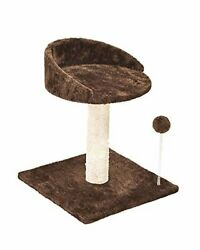 Poils bebe Cat Scratching Post and Activity Tree Natural Sisal Tower with Round $19.43