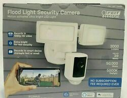 New Opened Feit Smart Flood Light Security Camera Motion Activated Bright X
