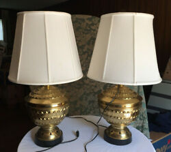 pair of gorgeously shaped vintage brass lamps Philippines LOCAL PICKUP ONLY $95.00