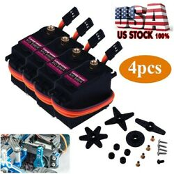 4Pcs MG996R Servo Motor Metal Gear Torque For Smart Car Robot Boat RC Helicopter $16.99