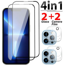 For iPhone 13 Pro Max 12 Pro Full Cover Tempered Glass Screen Camera Protector $9.96