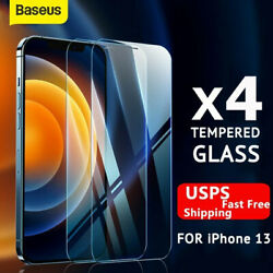 Baseus 2 Pack For iPhone 13 Pro Max 12 11 Tempered Full Glass Screen Protector $4.99