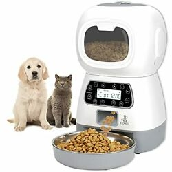 Automatic Cat Feeder 3.5L Pet Food Dispenser for Cats and Dogs Timed Grey $63.99