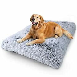 Dog Bed Crate Pad Deluxe Plush Soft Pet Beds 36 Inch Pack of 1 grey $39.99