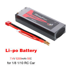 7.4v RC Battery 5200mah 50C 2S Lipo Battery For RC Truck Crawler 1 8 1 10 Scale $32.39