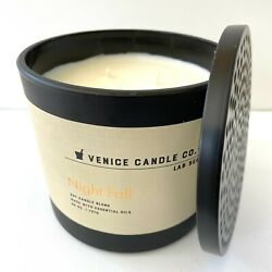 NEW Venice Men#x27;s Night Fall Natural Luxury Scented Soy Glass Jar Candle 25oz $39.99