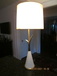 Vintage Mid Century Rembrandt Brass Lamp 33quot; tall w glass 28 3 4quot; with out $65.00
