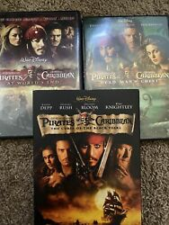 Pirates of the Caribbean Movies DVD Lot of 3 Black Pearl Dead Man Worlds End $5.00