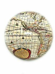 Value Arts Antique World Map Glass Dome Paperweight 3 Inches Diameter $24.50