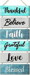 Wall Décor Sign Welcome Vertical Wall Art Decorations Rustic Home Accessories $26.95