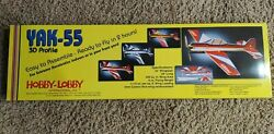 Hobby Lobby Yak 55 Rc Airplane 32quot; Wingspan Easy Assemble Foam Remote Control $50.00