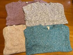LLBean pullover sweater lot of 4  Woman's Size Large $25.00