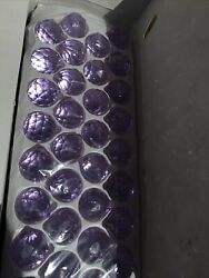 Box of 102 30mm Asfour CLEAR Crystal Ball Purple Prisms Chandelier New $79.99