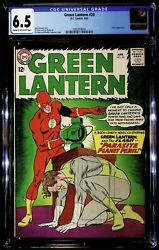 Green Lantern #20 2nd Flash Cover Appearance CGC 6.5 April 1963 $289.00