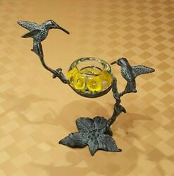 Metal Hummingbird Candle Stand with GIBSON Tea Light Paperweight $52.00