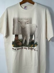 Rare Vintage LIVING EPISTLES The Lord Is My Shepherd 1993 T Shirt 90s XL $100.00