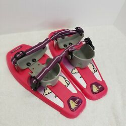 Little Bear Cub Pink Snowshoes 14quot; snowshoes for kids Used Great Shape  $24.95