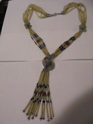VINTAGE GLASS BEAD NECKLACE $4.99
