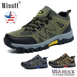 Men#x27;s Trekking Hiking Daily Sneakers Boots Trail Mountaineering Outdoor Shoes $33.97