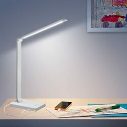 Led Desk Lamp Dimmable Desk Lamps for Home Office with USB Charging Port Eye ... $35.57