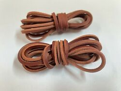 ONE PAIR MID BROWN 72quot; Rawhide Leather Shoelaces Strings Boat Shoe Boot Laces $8.95