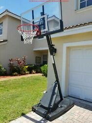 Spalding 54quot; Shatter proof Polycarbonate Exactaheight® Portable Basketball Hoop $264.75