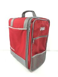 """Ogio The Original LOCKER BAG Red Gray with Shoulder Strap Athletic 16"""" x 13"""" x 8 $29.99"""