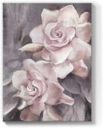 Pink Rose Flower Canvas Wall Art Painting Floral Picture Bedroom Decor 12x16in $23.99