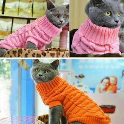 Dog Pet Cat Knitted Jacket Sweater Puppy Coat Clothes Winter Jumpsuit XS S M L $6.54